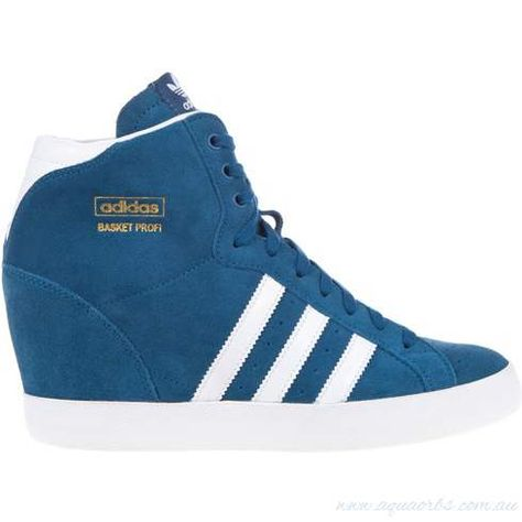 cheap for discount a3f44 36821 Sneakers  Adidas Originals Basket Profi Up W - Tribe Blue, Running  White,Metallic Gold