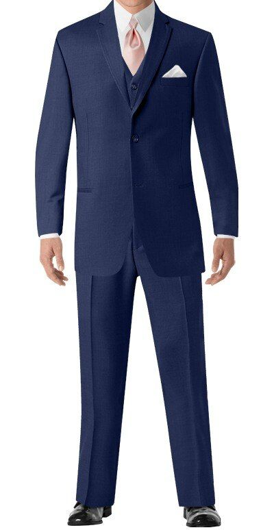 Blue Wedding Suit By Calvin Klein Suit Rental Men S Wearhouse In 2020 Blue Prom Suit Blue Suit Wedding Prom Suits