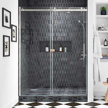 Ove Kelsey 60 Tempered Glass Shower Door Shower Doors Glass Shower Glass Shower Doors