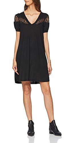 cheap for discount c4af5 34a08 Twin Set PA83AA Vestito Donna (Nero 00006) 44 (Taglia ...