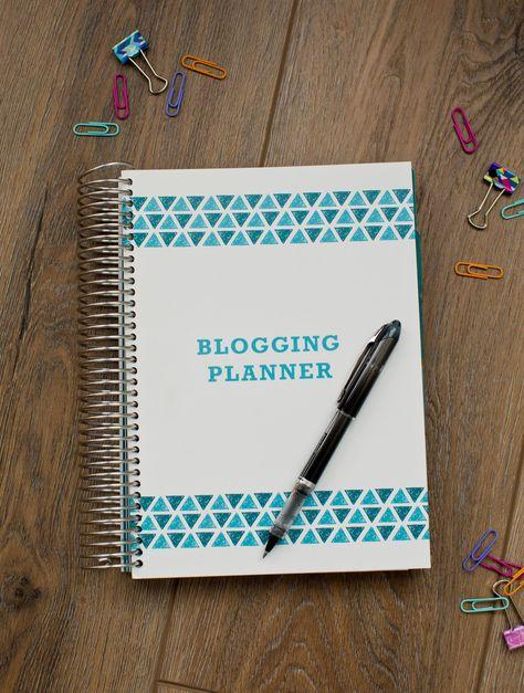 12 Month Blogging Planner