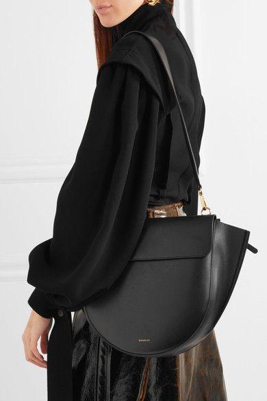 6c2c04484 Wandler - Hortensia leather shoulder bag in 2019 | Accessories | Leather  shoulder bag, Bags, Saddle bags