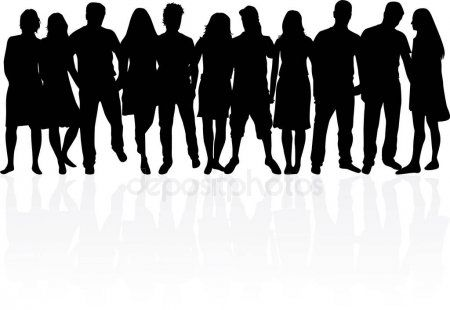 Group Of People Crowd Of People Silhouettes Stock Vector Sponsored Crowd People Group Vector Ad Crowd Graphic Design Branding Silhouette