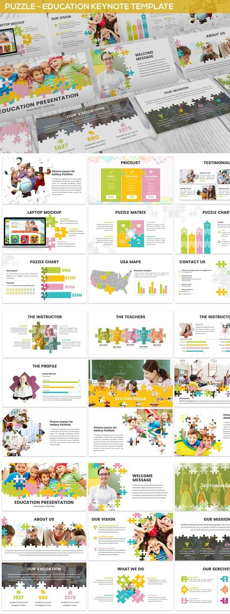 Puzzle - Education Keynote Template