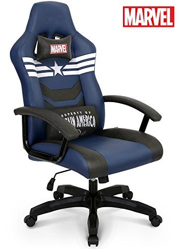 Premium Gaming Racing Chair Licensed Captain America Marvel Collection Home Office Chair Neo Chair Gaming Chair Racing Chair Marvel Room