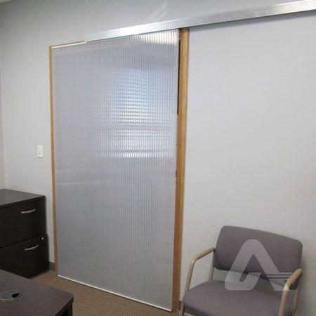 Multiwall polycarbonate  barn door  style sliding door | Commercial Interiors | Pinterest | Sliding door Barn doors and Barn & Multiwall polycarbonate