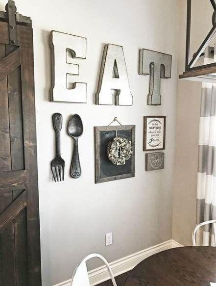 Kitchen Wall Art Eat Breakfast Nooks 53 Ideas Rustic Kitchen