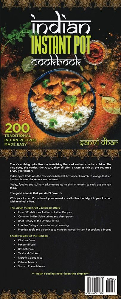Indian Instant Pot Cookbook 200 Traditional Indian Recipes