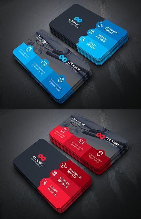 Medical Doctor Business Card Template Logo Design Branding Business Cards Doctor Business Cards Business Card Design Creative