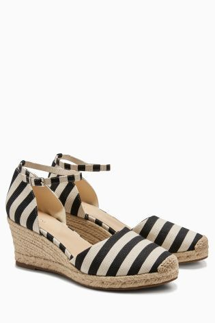 1abcdff9116 Stripe Espadrille Wedges | NEXT | Women's espadrilles, Leather ...