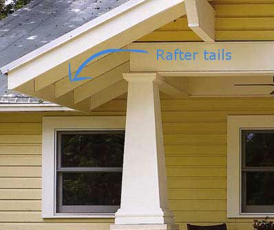 . perfect example of rafter tail look    My Style   Pinterest   House
