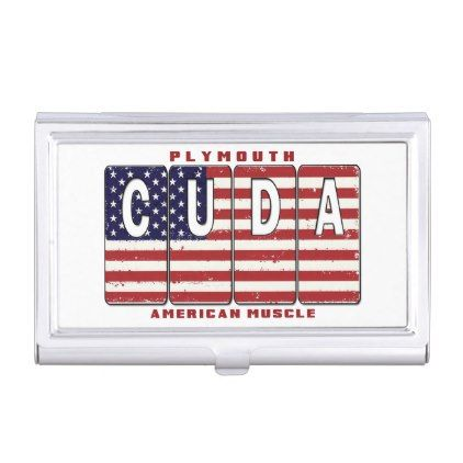 Plymouth Cuda Mopar Hemi Barracuda Muscle Car Flag Business Card Case Zazzle Com Business Card Case Plymouth Cuda Cuda