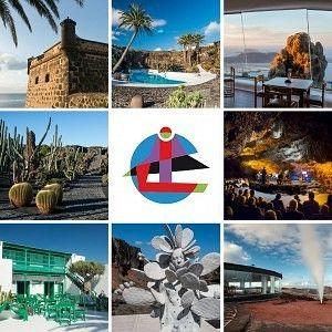 Montañas Del Fuego Timanfaya Cact Lanzarote Lanzarote Del S