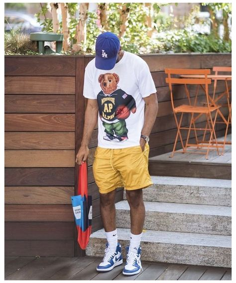 Dope Outfits For Guys, Summer Outfits Men, Stylish Mens Outfits, Black Men Street Fashion, Black Men Summer Fashion, Street Style Outfits Men, Street Styles, Style Masculin, Mens Clothing Styles