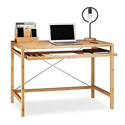 Relaxdays Computertisch Holz Tastaturauszug Burotisch Ausziehbar Schreibtisch Massiv Hxbxt 76 5x106 5x55 5cm Computertisch Schreibtischideen Schreibtisch