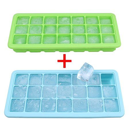 2 PACK Ice Cube Mold Tray WITH LIDS!