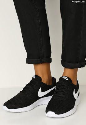 zapatillas nike blancas y negras mujer