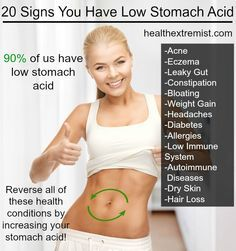 Did You Know Low Stomach Acid May Be Causing Your Health Problem? - Nearly everyone has low stomach acid! It has been linked to many health problems- acne, eczema, and autoimmune diseases but, it is easy to treat naturally!