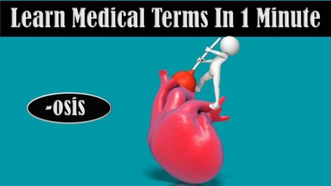 Learn The Meaning Of The Suffix Osis In Medical Terminology For More Medical Prefixes And Suffixes And To Re Medical Terms Medical Terminology Medical Words