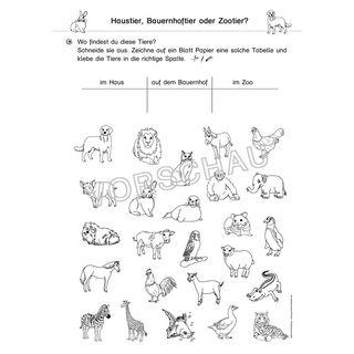 Haustiere Werkstatt Fur Die Grundschule Haustiere Tiere Zootiere