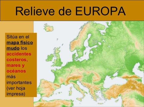 Mares Y Oceanos De Europa Buscar Con Google Mapa Fisico De Europa Estilos De Letras Mapa Fisico
