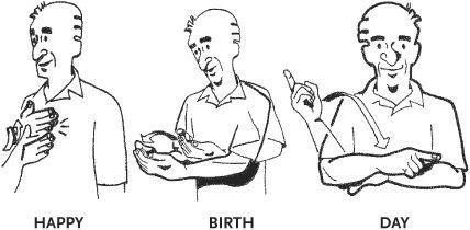 Asl Happy Birthday Birthday Clipart Pinterest Sign Language
