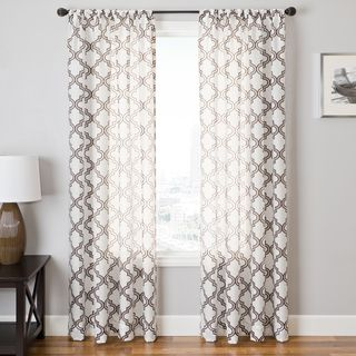 Penby Burnout Rod Pocket Curtain Panel - Overstock™ Shopping - Great Deals on Curtains