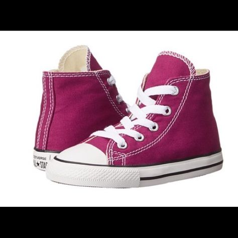 10dccc0f47fb Dark pink converse sneakers for kids Brand new and authentic ! Size 5 for  kids! Converse Shoes