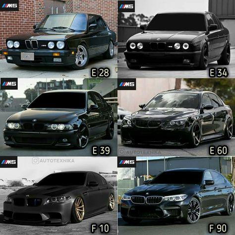 All Generations Of Bmw 5 Series Bmw 5 Series Bmw Bmw Cars