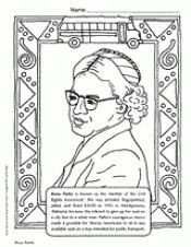 Rosa Parks Coloring Page Black History Month Printables Celebrate Black History Month Black History Activities