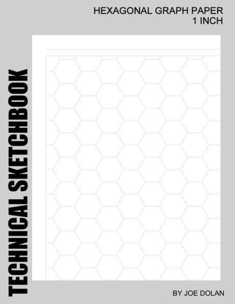 Sketchbook Hexagonal Graph Paper - 1 Inch Designed for Creative - hexagonal graph paper template