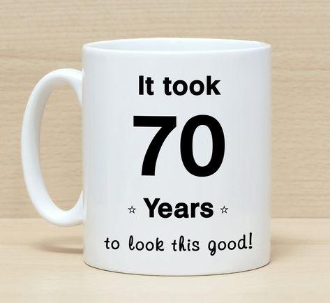 70th Birthday Mug Gift Mugs GiftFunny For Men Women Funny By SuburbanCottageUK