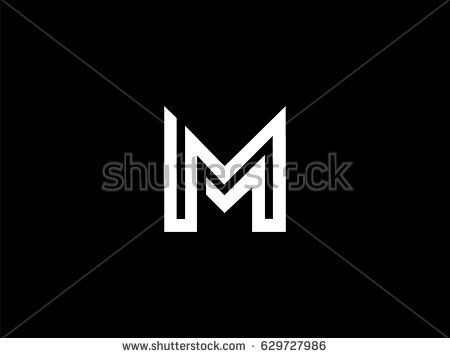 Letter M Logo Or Mm Initials Two Modern Monogram Symbol Concept