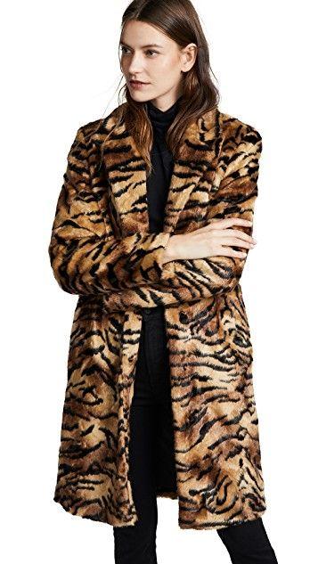Tiger Print Fleece Scarf Warm for Winter Faux Fur