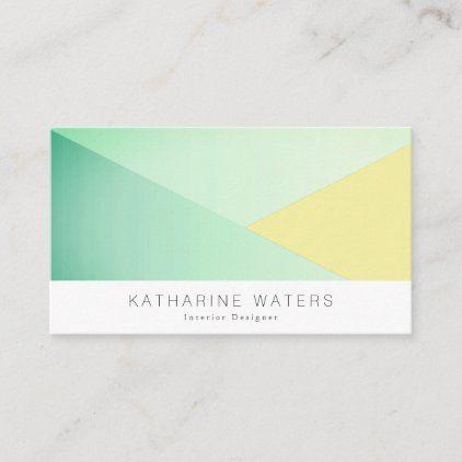 Green Yellow Blocks Modern Business Card Zazzle Com Modern Business Cards Business Card Modern Business Cards