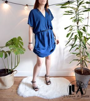 Diy Robe Rectangles L Usine A Bulle Couture Facile Robe Robe Couture Facile