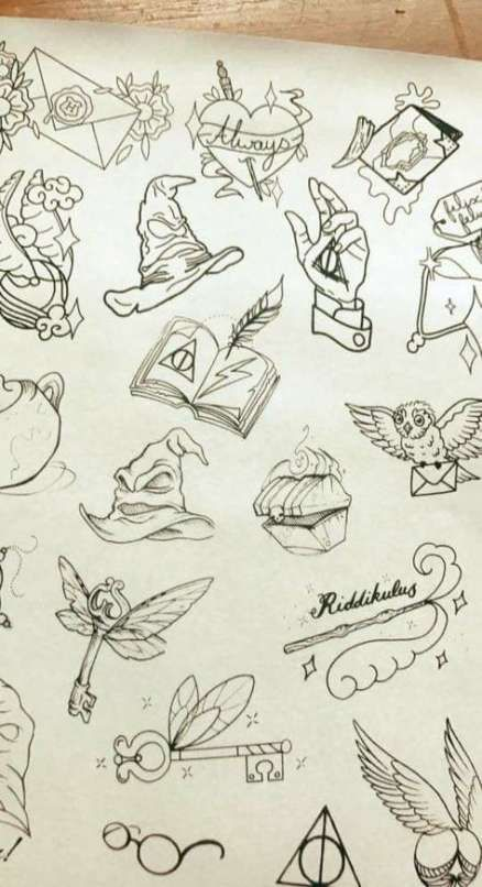 31 New Ideas For Tattoo Sleeve Designs Drawings Harry Potter Harry Potter Tattoos Harry Potter Key Harry Potter Sketch