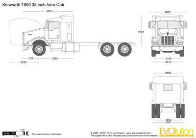 Kenworth T800 38 Inch Aero Cab Kenworth Truck Design Wooden Toy Trucks