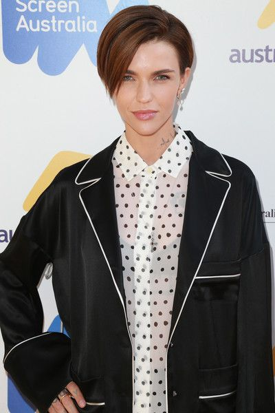 Actress Ruby Rose attends the 2017 Australian Emmy Nominee Sunset Reception.