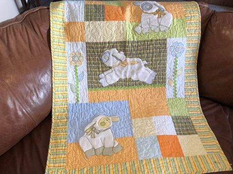 Baby quilt pattern precious lambs cute animal themed gift easy
