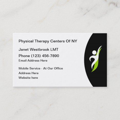 Physical Therapy Services Therapist Business Card Zazzle Com Physical Therapy Business Physical Therapy Physics
