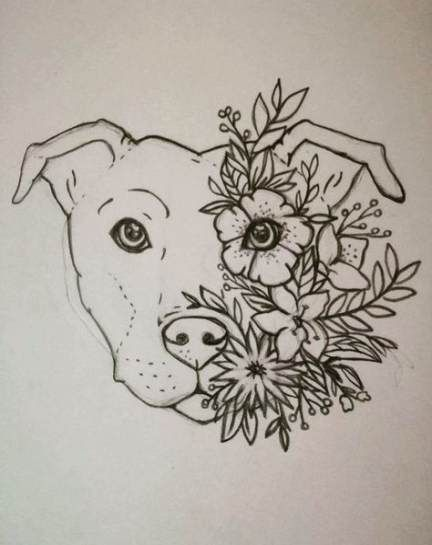 Flowers Tattoo Color Thigh 55 Ideas For 2019 Dog Tattoos Animal Tattoos German Shepherd Tattoo