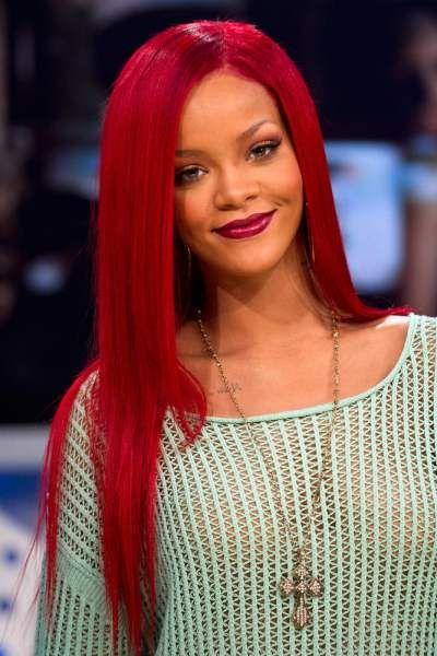Color Hair Rihanna Red Hair Rihanna Hairstyles Long Red Hair