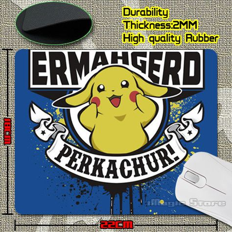 Customized Luxury Printing Pokemon Pikachu Style Design Game Gaming Durable PC Anti-slip Mouse Mat for Optical/Trackball Mouse
