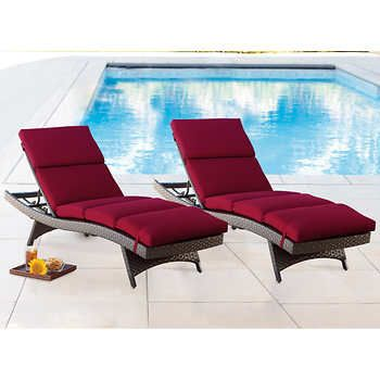 Chaise Lounge Cushion 2 Pack Lounge Cushions Red Chaise Lounge Chaise Lounge Cushions