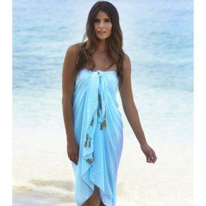 f4a38b39b8 Ocean Wave Long Scarf/Sarong - tops & t-shirts | Resort Wear ...