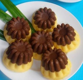 Cake Labu Kuning Kukus Lapis Coklat Resep Kue Buah Makanan Manis