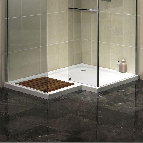 Aqualux Aquaspace Square Walk In Shower Tray 1500mm X 1000mm Wide