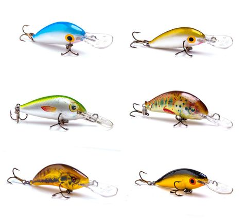 Balsa Wood Jointed crankbaits Ugly Duckling lures NEW in Box