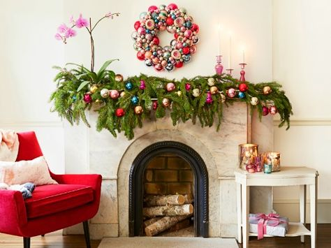 Holiday Mantel Decor Ideas - Christmas Mantel Decorations - Good Housekeeping